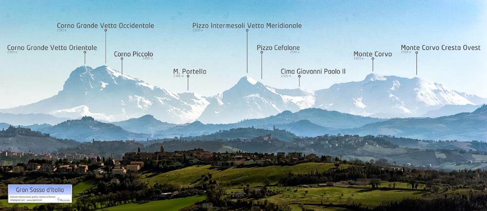 Group of the Gran Sasso mountain - Gianluca Storani Photo Art (ID:2-4668)