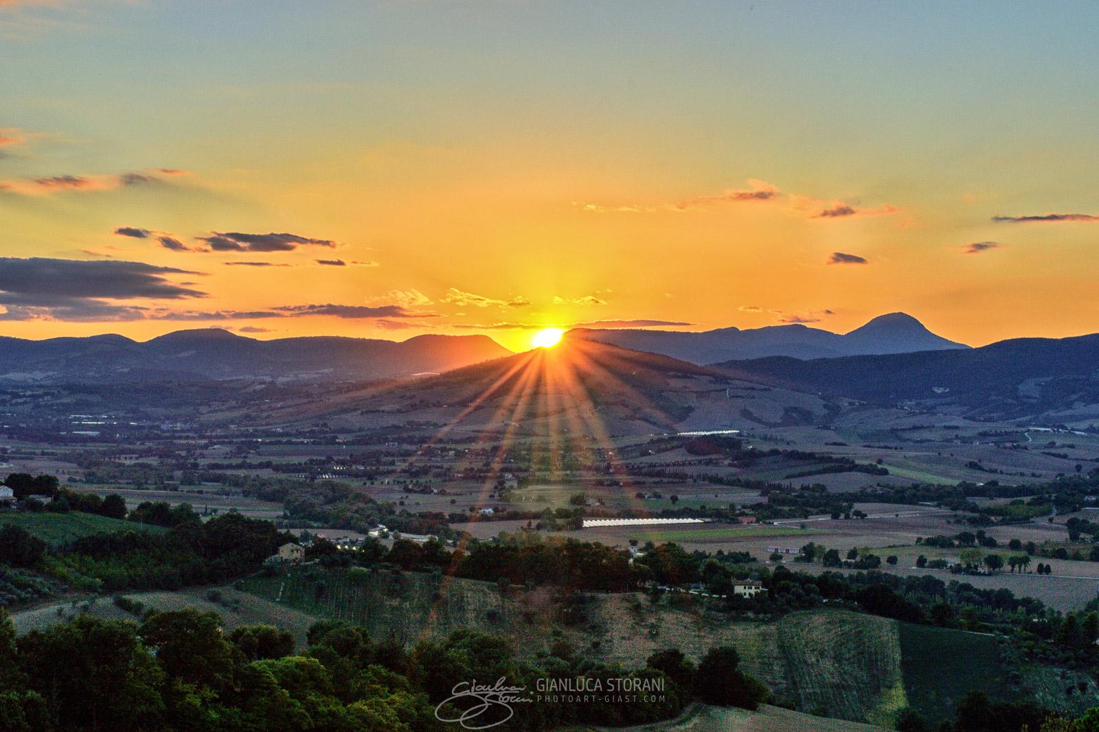 Tramonto su Pitino - Gianluca Storani Photo Art (ID: 1-6240)