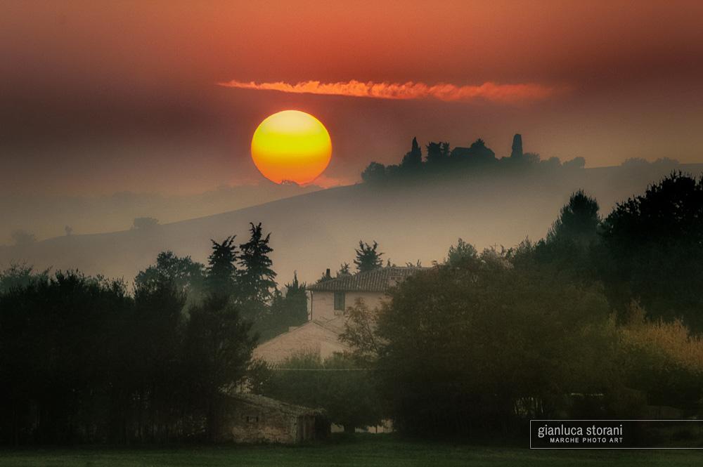 Caccia ad autunno rosso - Gianluca Storani Photo Art (ID: 4-5066)