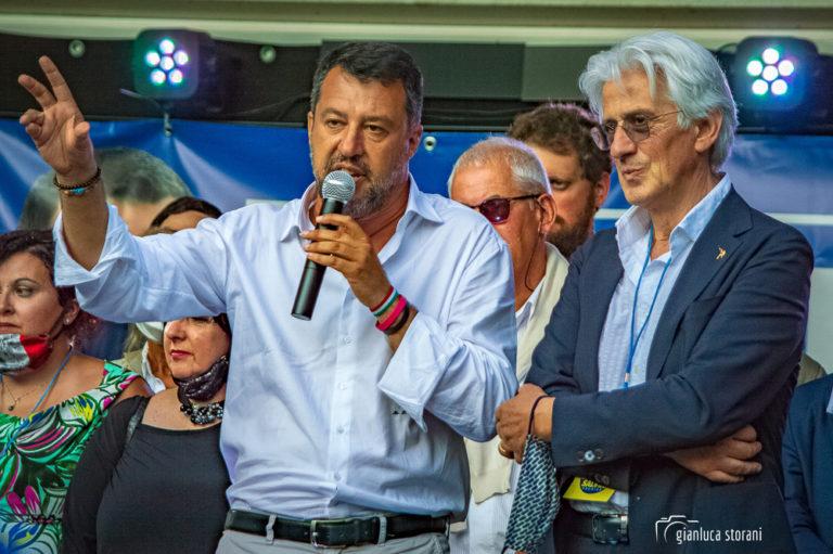 Matteo Salvini a Macerata in vista delle Regionali