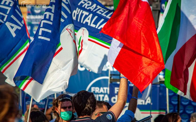 Giorgia Meloni a Macerata in vista delle Regionali
