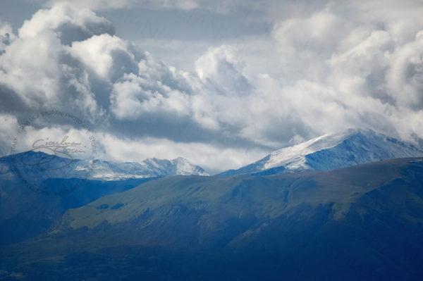 I Monti Sibillini ricoperti dalle nuvole