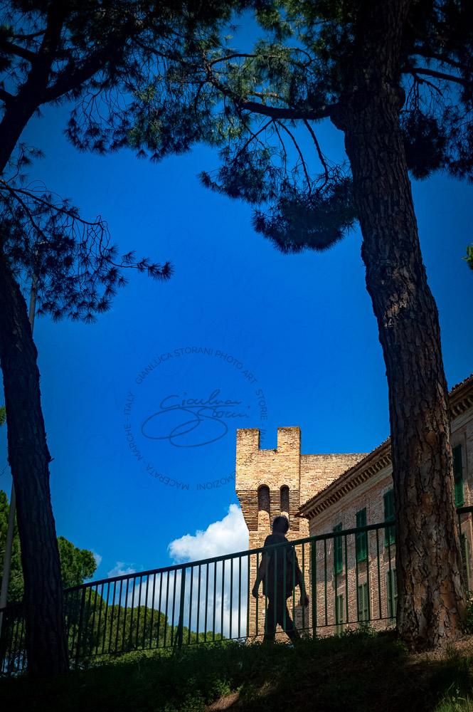 Uno scorcio di Porta Montana a Macerata