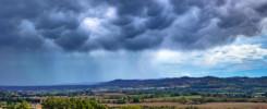 La nube temporalesca Mammatus sulla Val di Chienti