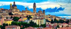 I colori di Macerata in una panoramica della città